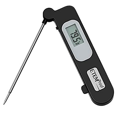 Etemproof Instant-read Thermometer, High-performing Digital Food/meat Thermometer, Black