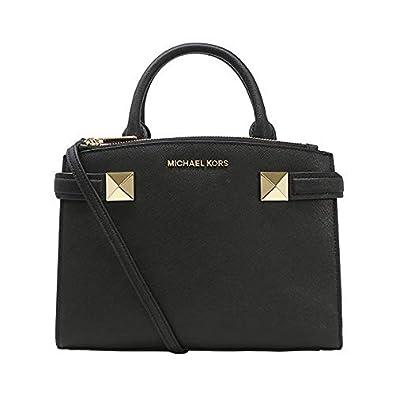 7b30487df5193 Michael Kors Karla SM Satchel Leather Black (35T8MKGS1L)  Handbags ...