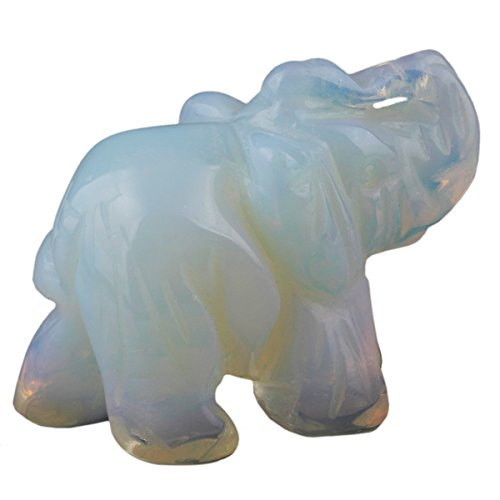 rockcloud Healing Crystal Guardian Elephant Pocket Stone Figurines Carved Gemstone Crafts 3