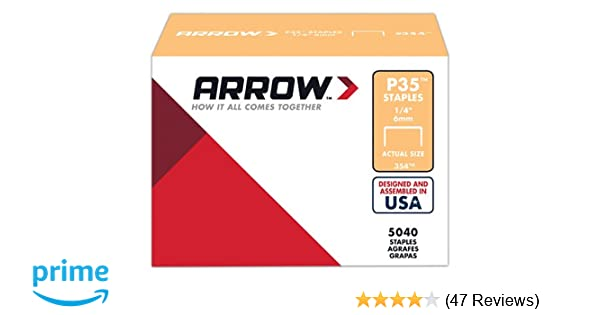 Arrow Fastener 354 Genuine P35 1/4-Inch Staples, 5040-Pack - Finish Staples - Amazon.com