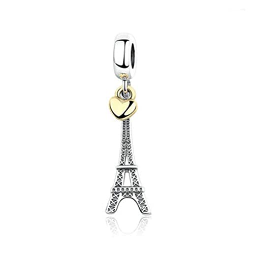 a76bd54e7 Image Unavailable. Image not available for. Color: SUNWIDE fit Pandora  Charms Bracelets Paris Eiffel Tower Landmark Sterling Silver Charms