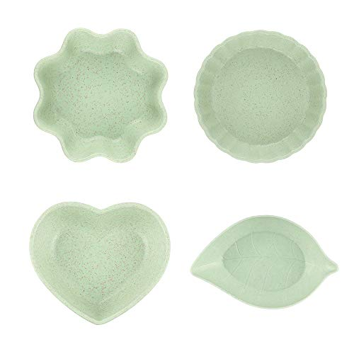 (YINGBO Dipping Bowls Soy Sauce Dishes Appetizer Plates Saucers Bowl Sauce Dishes,Set of 4)