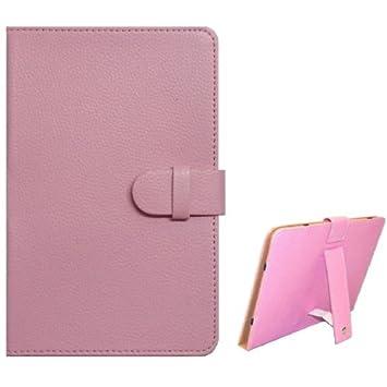 Funda Ebook / Tablet 8 pulgadas Piel Rosa soporte.: Amazon.es ...