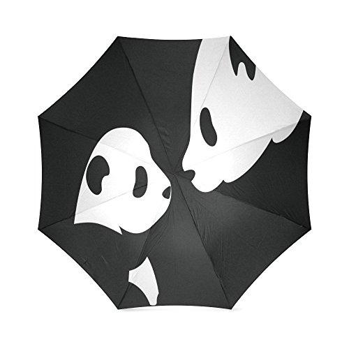 Price comparison product image Cute Panda Compact Foldable Rainproof Windproof Travel Umbrella