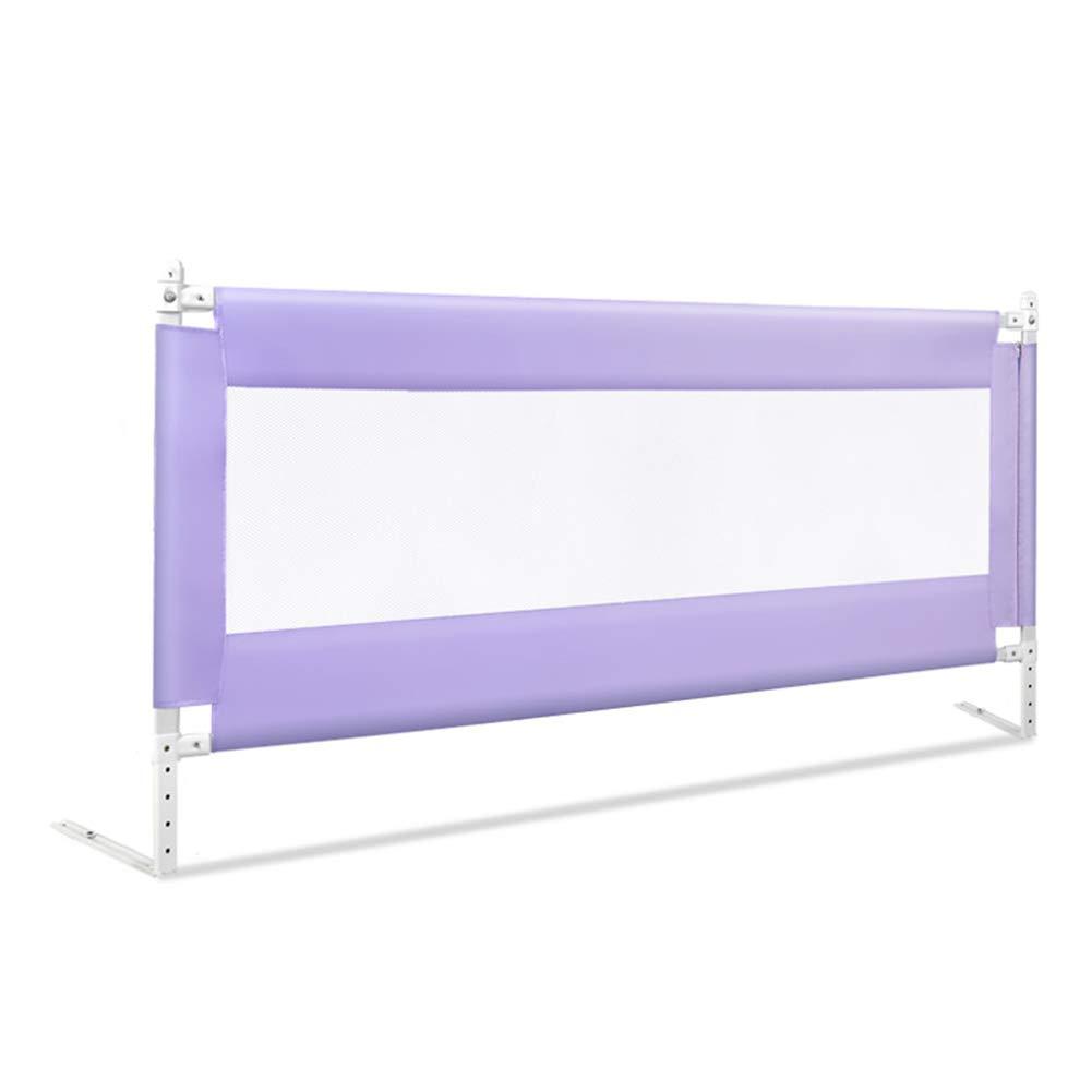 ベッドフェンス, 幼児用の高さ85cmの高層ベッドレールガード、キングサイズベッド/クイーンサイズベッド用の縦型リフトベビーベッドレール、安全性と安定性 (色 : Pink, サイズ さいず : 200cm) 200cm Pink B07K33SWXH