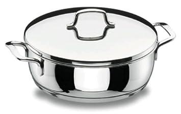 Lacor 90628 - Tartera con tapa Gourmet 28 cm Acero Inoxidable 18/10
