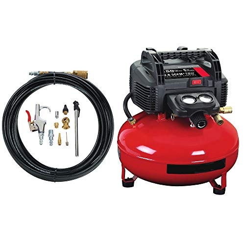 Red Porter-Cable 6 Gal. Pancake Air Compressor and Accessory Kit C2002-WK Refurb