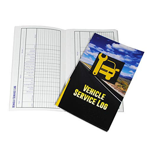 Vehicle Maintenance Log and Receipt Storage Notebook