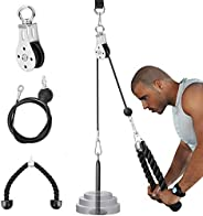 Ulalov Fitness Pulley Cable System DIY Loading Pin Lifting Triceps Rope Machine Workout Adjustable Length Home