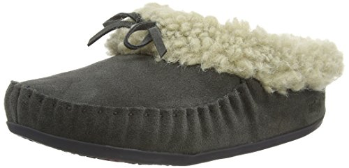 Fitflop Womens Il Cuddler Snugmoc Mule Charcoal