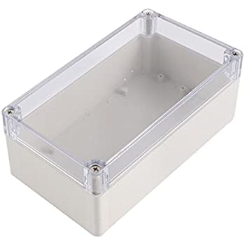 uxcell Dustproof IP65 Clear Cover Plastic Electronic Project Junction Box Enclosure Case 158 x 90 x 60mm