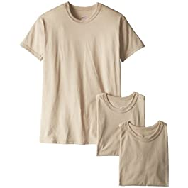 Soffe Men's 3-Pack Short Sleeve Crew Neck Military T-Shirt