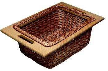 Wicker Basket, With Handled Frame Width 363 mm (14 5/16