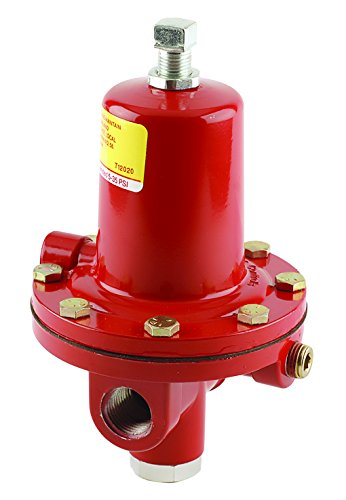 Emerson-Fisher LP-Gas Equipment, 64-35, 1/2'' FNPT Aluminum, High Pressure Regulator with Relief, 5 - 35 PSI, UL Listed