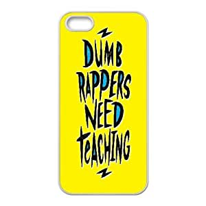 interesting Design] Dumb Rappers Need Teaching For SamSung Galaxy S6 Phone Case Cover Cute For Men {White}