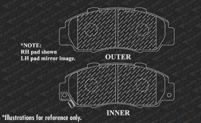 Max Brakes Front /& Rear Elite Brake Kit 1998-2002 Honda Accord V6 KT004783 Fits E-Coated Slotted Drilled Rotors + Ceramic Pads