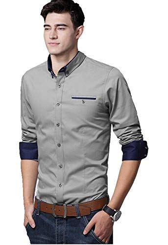LookMark Men's Plain Regular fit Casual Shirt