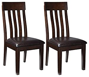 picture of Signature Design by Ashley - Haddigan Dining Room Chair - Upholstered Chairs - Set of 2 - Dark Brown