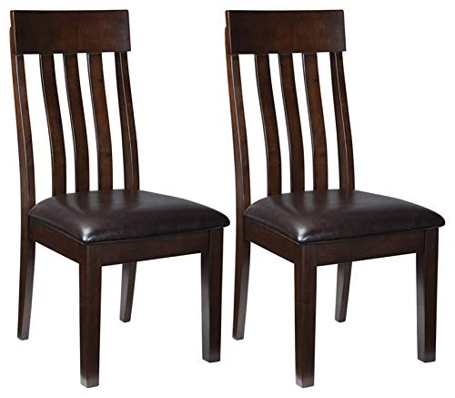 Signature Design by Ashley - Haddigan Dining Room Chair - Upholstered Chairs - Set of 2 - Dark Brown,signature design by ashley