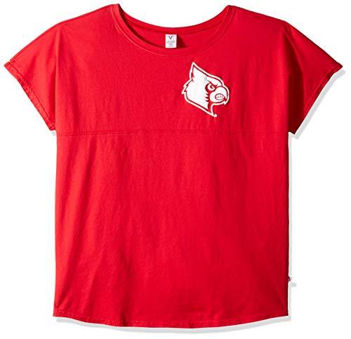 Venley NCAA Louisville Cardinals Women's Callie Short Sleeve Football Tee, X-Large, - Louisville Womens Football Cardinals
