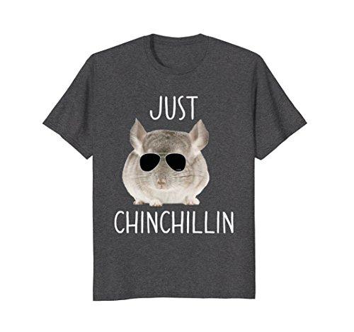 7252b5f7 JUST CHINCHILLIN T-SHIRT, CHINCHILLA, BRO, RELAXING, CHILLIN