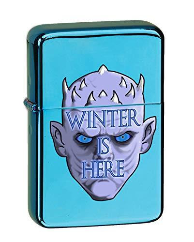 - Hat Shark Game Winter is Here Ice King TV Show Parody Vector KGM Thunderbird Vintage Lighter - Sparkle Blue