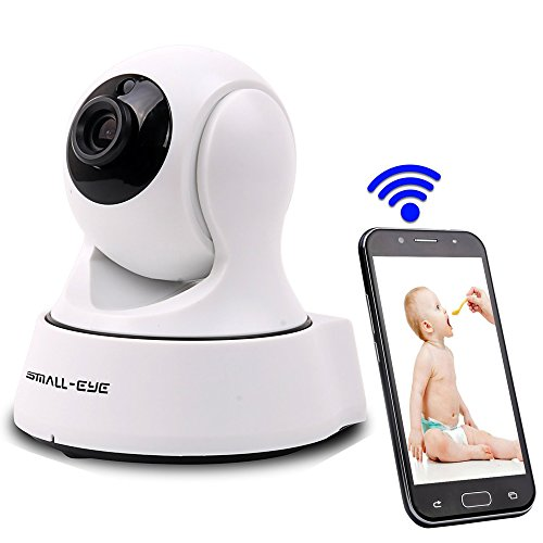 Dome Camera, SMALL-EYE IP Camera 720P HD Surveillance System Night Vision Wide Angle Wifi Indoor