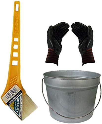 ペール缶付き黄柄水性ハケ50mm(作業手袋付き)通常便