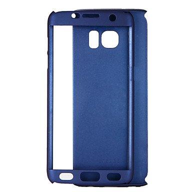 Casos hermosos, cubiertas, Funda Para Samsung Galaxy S8 S7 Antigolpes Funda de Cuerpo Entero Color sólido Dura ordenador personal para S8 Plus S8 S7 edge S7 S6 edge ( Color : Azul Oscuro , Modelos Com Rosa