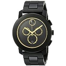 Movado Men's 3600275 Analog Display Swiss Quartz Black Watch
