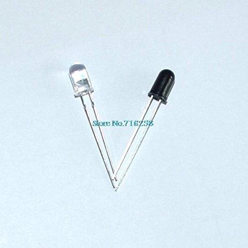 Seajunn 100pair/lot 5mm Infrared receiver and Infrared emitting transmit diodes IR LED