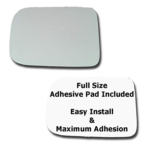 - Mirror Glass + Full Size Adhesive Pad for 1981-1994 Dodge B250 Driver Side Replacement