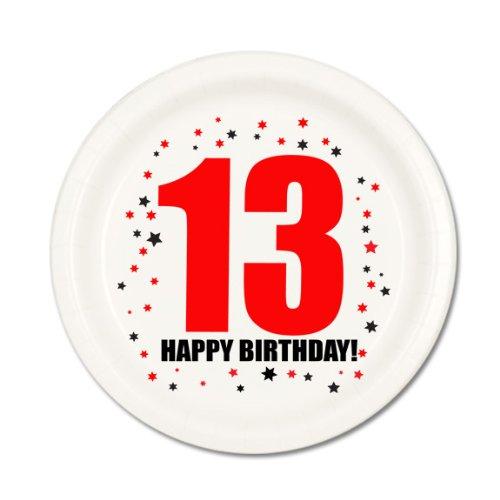 13TH BIRTHDAY DESSERT PLATE (13th Birthday Plates)
