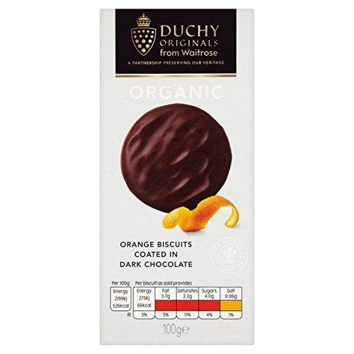 Duchy Organic Dark Chocolate Orange Biscuits 100g (Chocolate Orange Cookies)