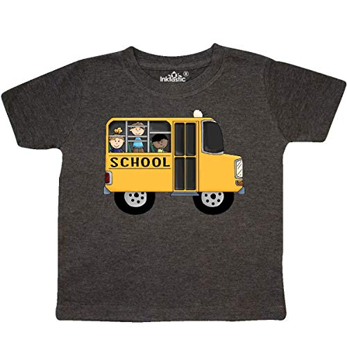 inktastic - School Bus Toddler T-Shirt 3T Retro Heather Smoke ()