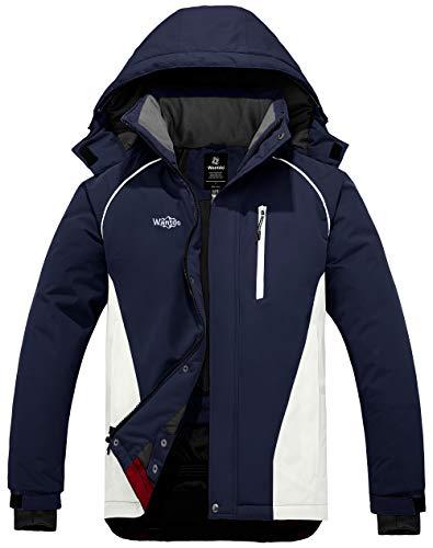 Wantdo Men's Mountain Waterproof Ski Jacket Windproof Winter Snow Coat Outdoor Snowboarding Jacket
