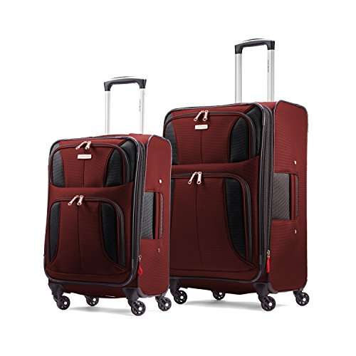 Samsonite Aspire XLite Set of 20 inch and 25 inch Spinners, Port Wine