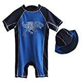 One Piece Swimsuits for Boys, Rash Guard Long Sleeve Full Body Swimwear - Baby Boys Swimsuit UV Sun Protection - Dinoaur Design Toddler Kids Baby Girl Swimsuit Dinosaur Design Blue