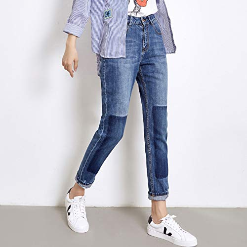 Plus Donn M Lavato Size Vita Piena Paneled Evidenza In Allentata Jeans Lunghezza Ripped Rlwfjxh Primavera Metà Bleached Xl Donna A Hwtv5BxWqW