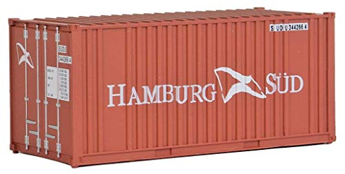 Walthers SceneMaster Corrugated Container with Flat Panel Hamburg Sud, 20'