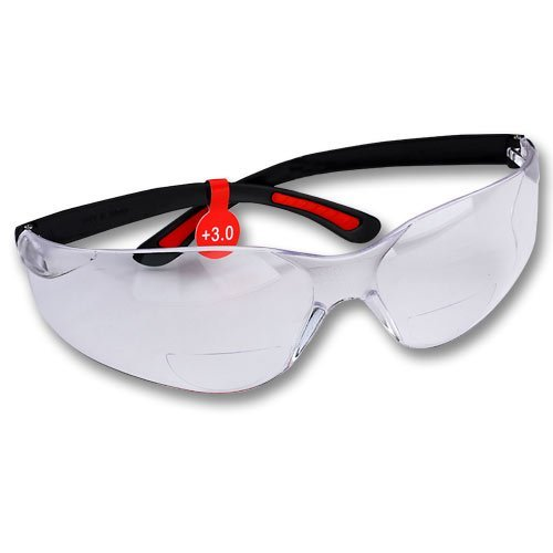 FastCap Bifocal Safety Glasses, +3.0 by Fastcap