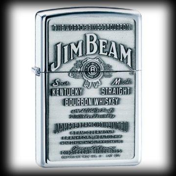 Jim Beam Pewter Emblem High Polish Chrome Lighter 250JB by Martial Arts Gear