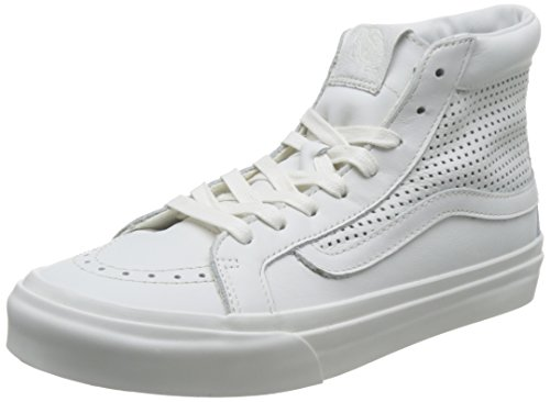 mixte Blanc U mode Sk8 adulte de Blanc Slim Baskets Hi Vans 76wqTx