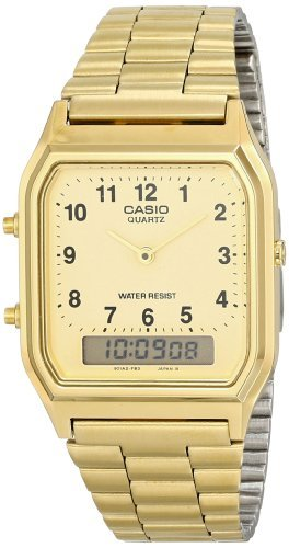 Casio Men's AQ-230GA-9D Gold Analog & Digital with Index Watch