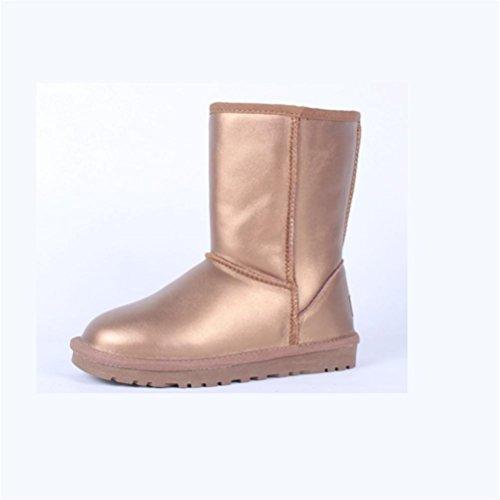 QPYC neve 48 scarpe Neutro metal scarpe gold da caldo donna uomini nel colore dimensioni 34 mantenere speciale stivali stivali femminile piatto tubo di impermeabile grandi rRrxXqB