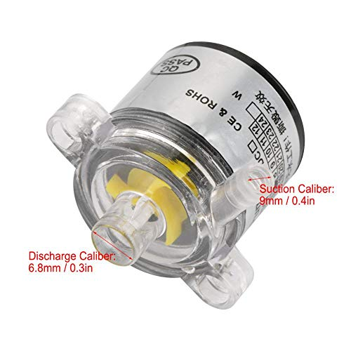 Akozon Mini Water Pump, Low Noise Environmental Plastic Electric Brushless Water Pump 12V 7W by Akozon (Image #4)