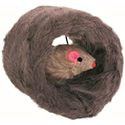 Trixie Plush Circular Roll Cat Toy with Mouse Inside