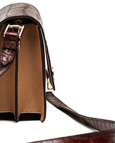 Dutti Massimo bandoulière métallique Sac 628 cuir fermoir Femme 6903 Hwx7gwqdC