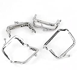 Rockin Beads Brand, 5 Metal Frames Snap Clasp for Small Coin Style Purse Silver Tone 2-1/2 X 1-1/4 Inch 5pcs