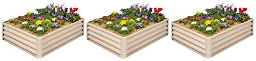 Metal Raised Garden Bed Kit - Elevated Planter Box For Growing Herbs, Vegetables, Flowers, and Succulents ()